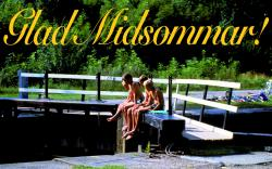 Glad Midsommar / Happy Midsummer. Photo from a trip along Göta Kanal, courtesy Rederi AB Göta Kanal.